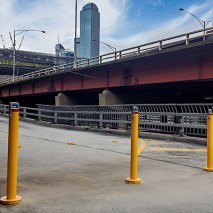 Surface mountable bollards