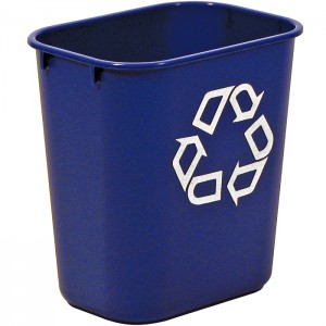 2955-73 Deskside Recycling Container, Small with Universal Recycle Symbol
