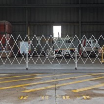 A heavy duty expandable barrier for industrial applications