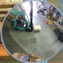 Unbreakable polycarbonate convex mirrors for indoor use