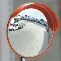 Extremely durable weather-proof convex mirrors