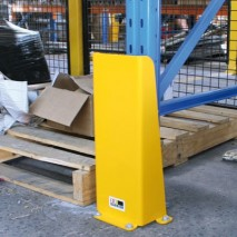 A pallet racking leg protector for larger applications