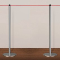 Neata Gallery slimline portable post used as a temporary/permanent museum exhibition barrier