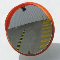 Long-term weather and impact resistant convex mirror
