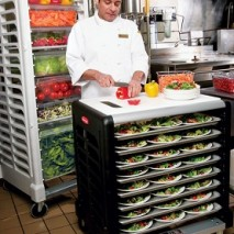 3316 Max System™ Prep Cart with Cutting Board (8 slot side loader for food boxes and sheet pans)