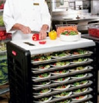 3315 Max System™ Prep Cart with Cutting Board (8 slot end loader for full size insert pans)