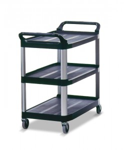 4091 Utility Cart, Open Sided- black