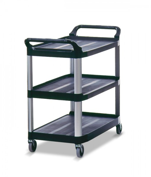 4091 Utility Cart, Open Sided-Black