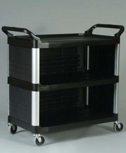 4093 Utility Cart with Enclosed End Panels on 3 Sides