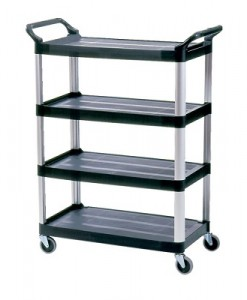 4096 4 Shelf Cart, Open Sided