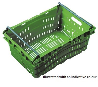 Nally 38L Ventilated Swing Bar Crate