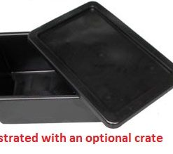 Lid For Nally CRATE SOLID- BLACK-RECYCLED