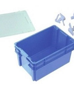 NALLY IH2500 Series 2000 52L Solid Crate + Lid + Clips
