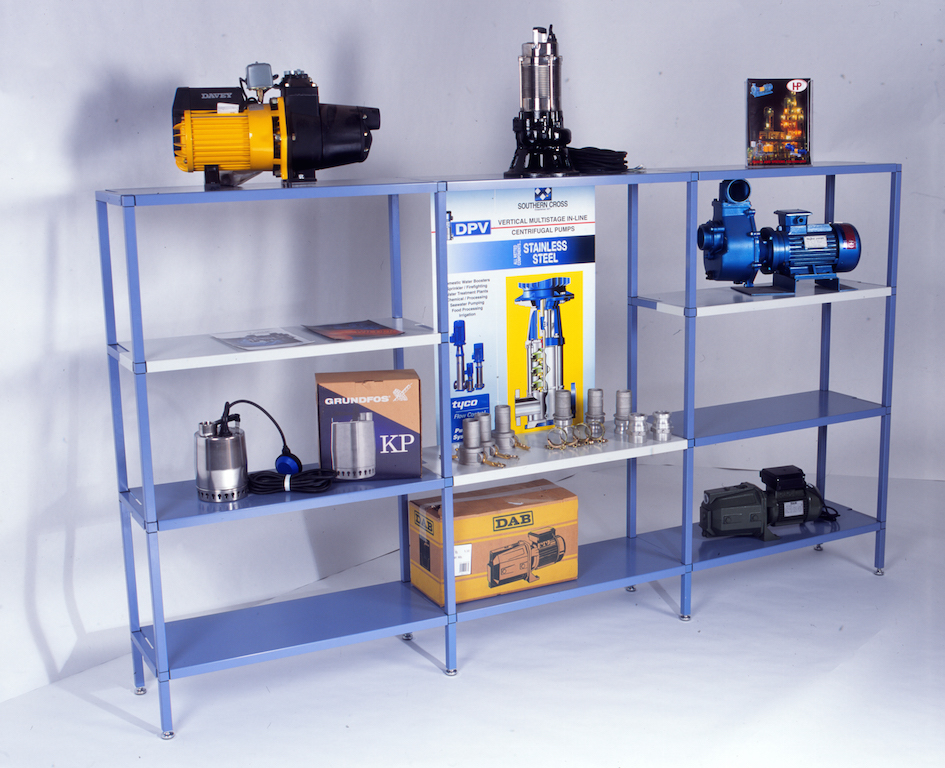 Exhibition Stand Industrial : Speedframe modular shelving systems spacepac industries
