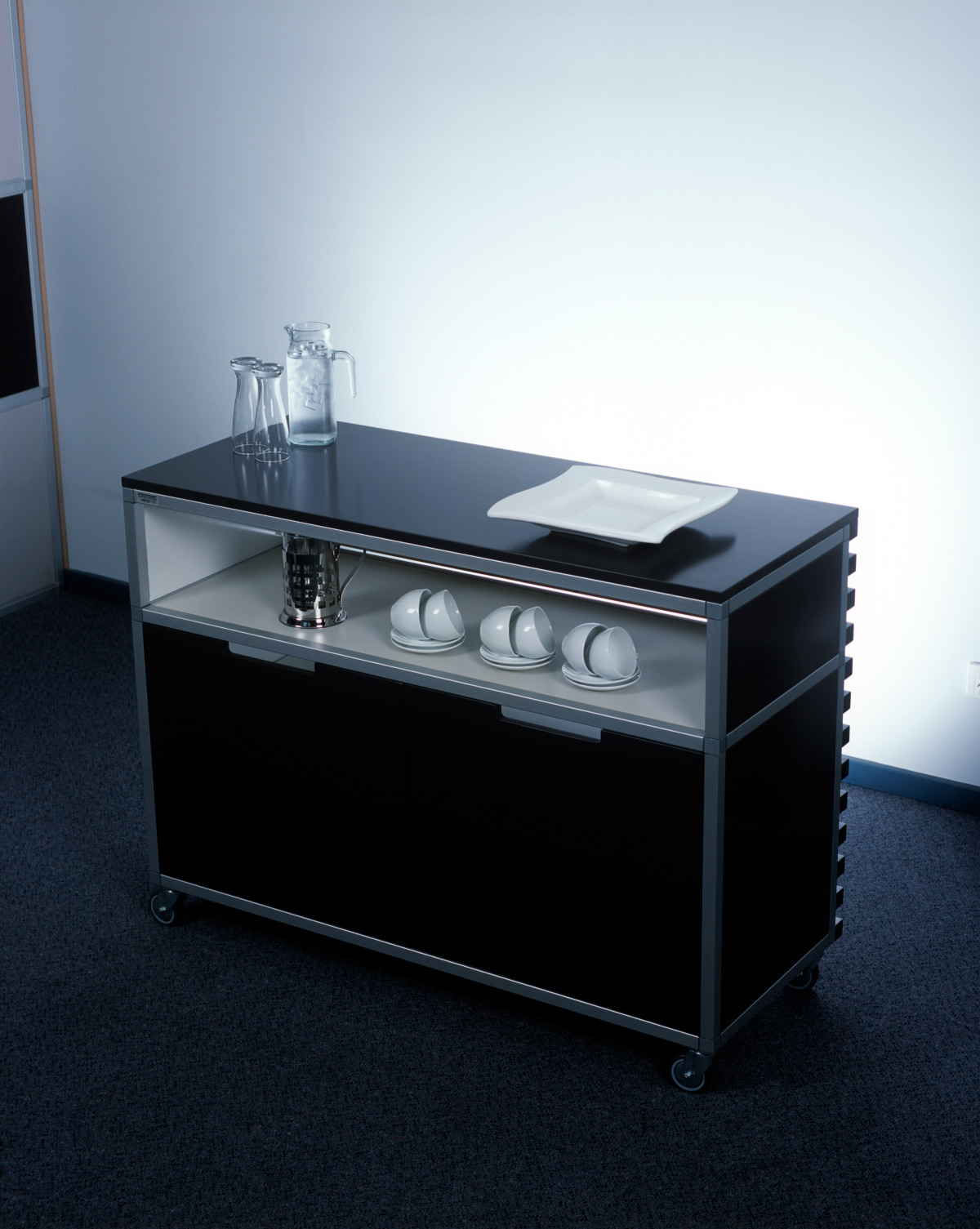 Speedframe modular shelving systems spacepac industries - Mobile credenza ...