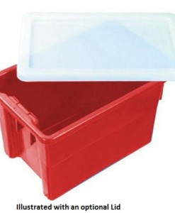 Nally IH078 68ltr Plastic Crate (Red)