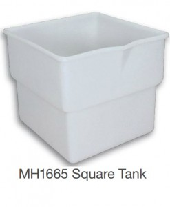 Nally MH1665 Square Tank Mobile Food Bin