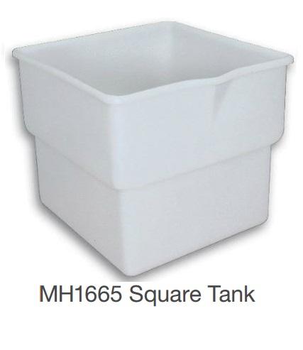 Nally MH1665 Square Tank Mobile Food Bin