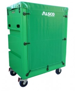 Green Tallboy Linen Exchange Trolley (TLET5) with PVC Cover
