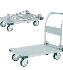 Stainless Steel folding Platform trolley, 1100x700.