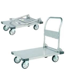 Folding Stainless Steel Trolleys.