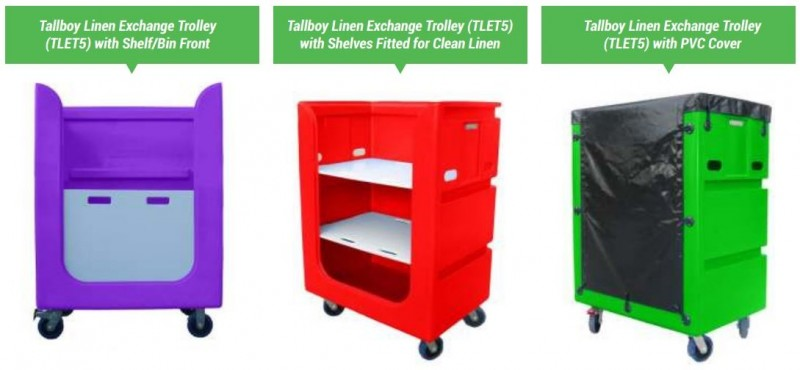 TALLBOY LINEN EXCHANGE TROLLEY 5 TLET5