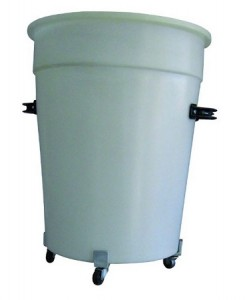 100L Tapered Industrial Drum with Dolly and handles