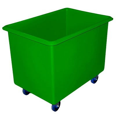 340 litre Rectangular Tub Trolley Green