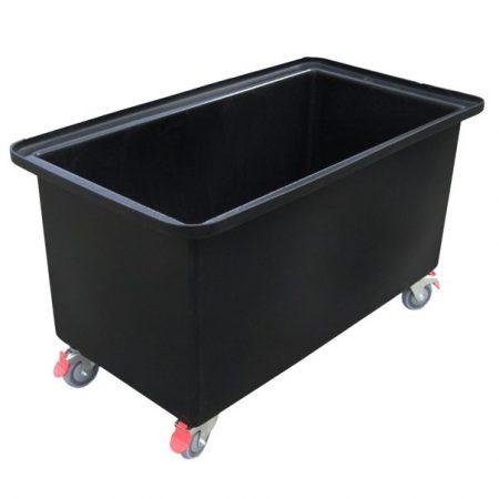 Black 250 litre Rectangular Tub Trolley