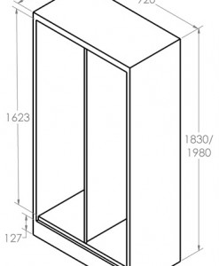 Hinged-Door Cabinet_Combo dimension