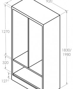 Hinged-Door Cabinet_Gear dimension