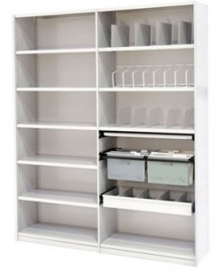 Shelving Adjustable steel shelves