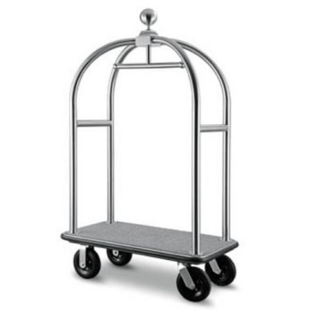 Birdcage Luggage Trolley stainless steel