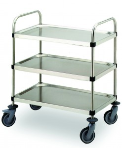 778456, 2/3 Tier Stainless Steel food trolley